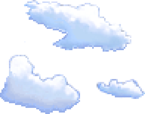 how to draw pixel clouds